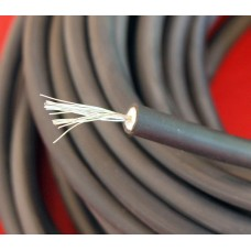 Black Sheathed Copper Core HT Ignition lead 7mm.  Sold Per Metre. Plug Lead  AAA5981M-COP