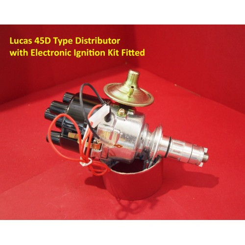 Powerspark Lucas 45D4 Type Distributor with Electronic Ignition Kit and Vacuum Advance Unit      D4-Powerspark