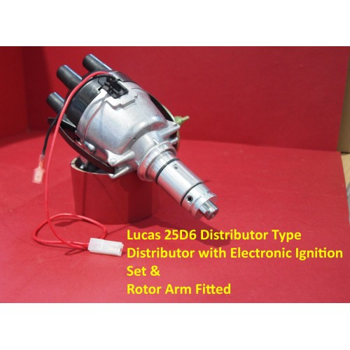 Powerspark Lucas 25D6 Distributor Top Entry with Electronic Ignition Kit & Rotor Arm Fitted     D62-Powerspark